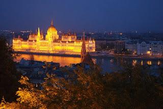 Danube River at Night Hungary