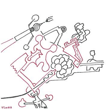 Zeichnung Bild / painting picture :Erinnerungen / memories