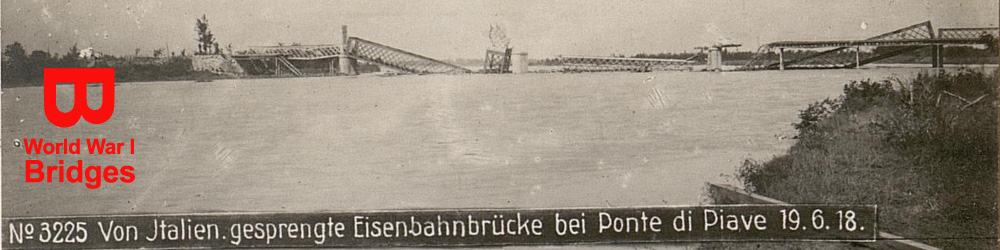 World War I Bridges - Italy - WW1 Centenary from the river Piave