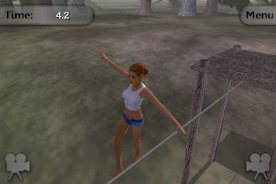 Tightrope balance and walking game for Apple iOS gadgets