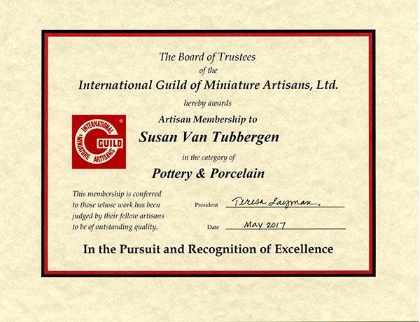 IGMA Artisan Certificate