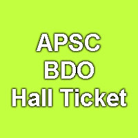 APSC Hall Ticket 2015 for BDO