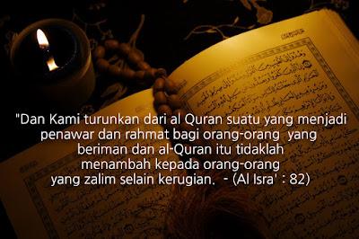 Bacalah Al Quran Kerana Itu Ubat Hati