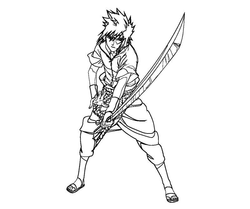 printable sasuke uchiha 21 coloring page