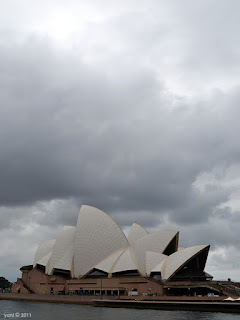 grey opera house morning