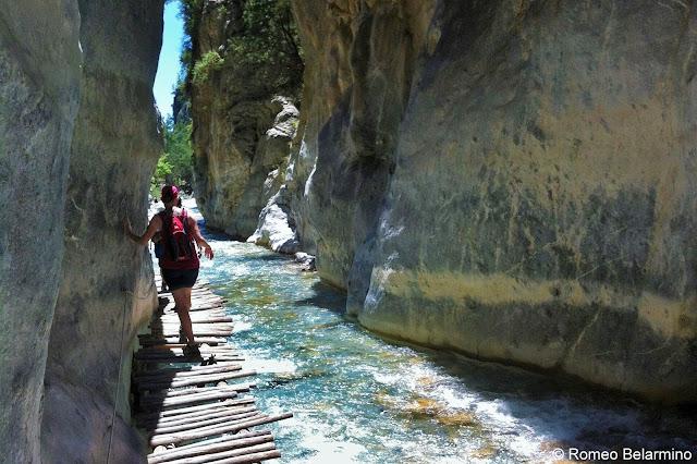 Wood Walkway Samaria Gorge Hike Crete Greece