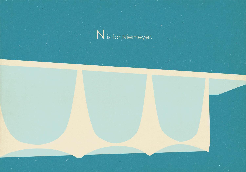 Niemeyer Brasilia Poster