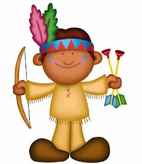 niño disfrazado de indio