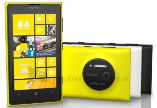 Svelati i primi 3 colori ufficiali del prossimo smartphone windows phone 8 pure view Nokia Lumia 1020: bianco, nero e giallo