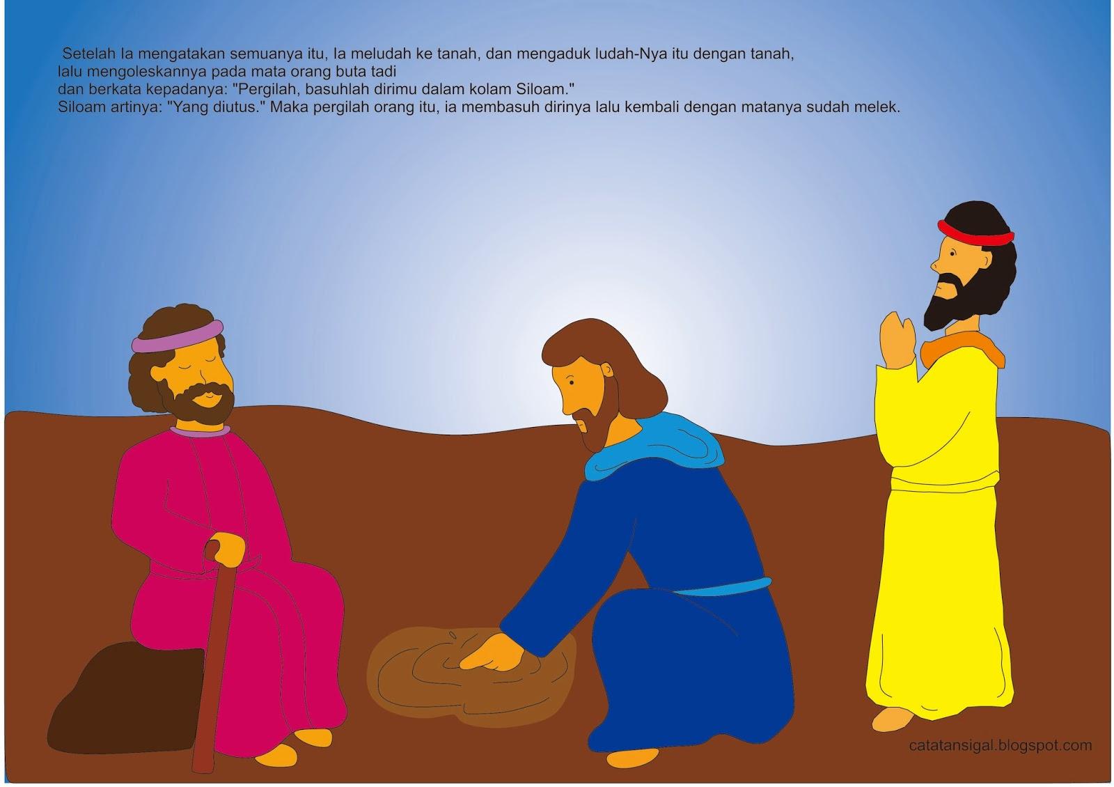 Bahan Untuk Bercerita : Yesus Menyembuhkan Orang Buta ( Sekolah Minggu