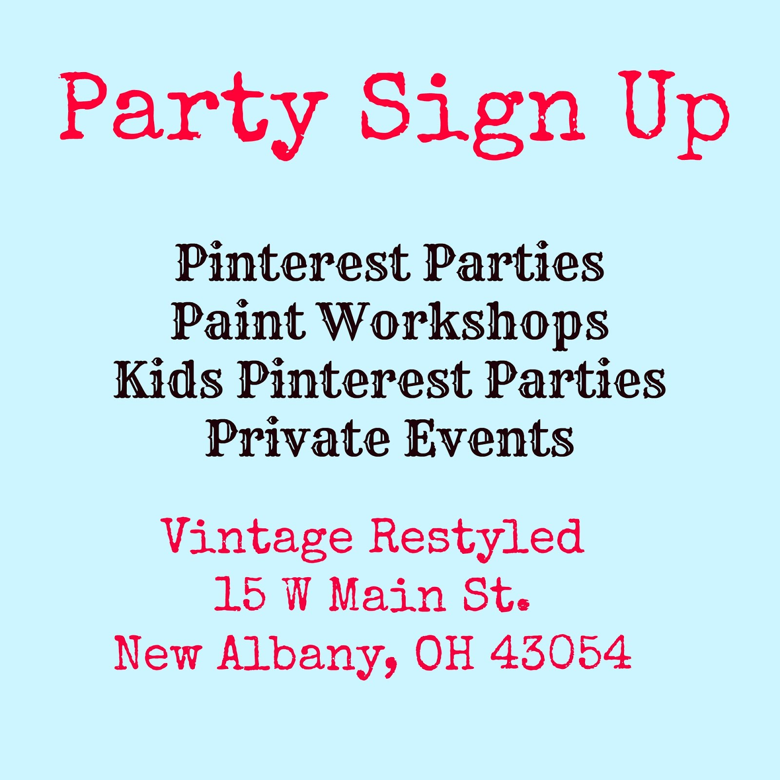 Pinterest Parties JANUARY 2017