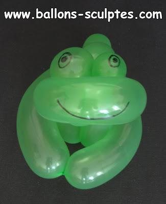 grenouille en ballon