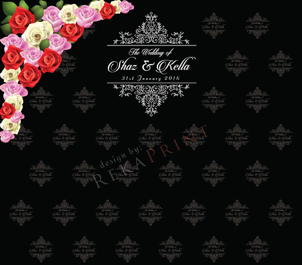 RekaPrint: PhotoBooth Backdrop Untuk Majlis Perkahwinan