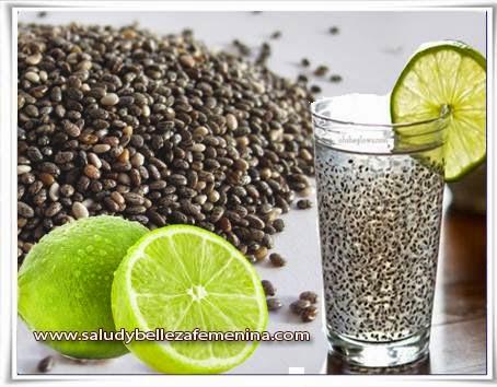 chia, Dietas y nutrición, limón, receta para adelgazar, receta para bajar peso, remedios caseros para adelgazar,