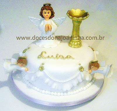 anjos bolos decorados  batizado pia batismal