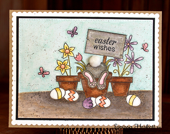 Easeter Wishes card by Larissa Heskett | Stamps by Newton's Nook Designs