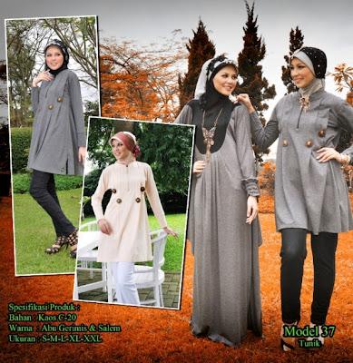 Katalog Busana Muslim Mazaya Salem Abu tua gerimis