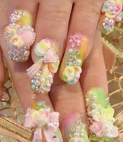 Bridal Nail Art Designs 02 Short Nail Designs