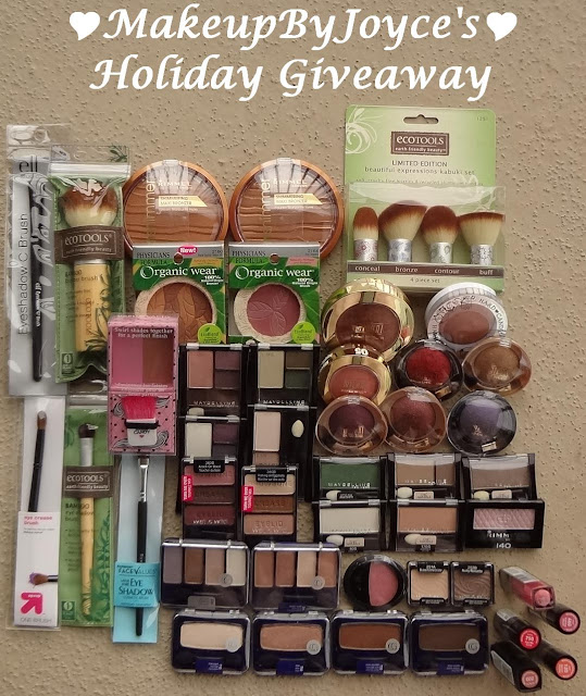 MakeupByJoyce's Huge Holiday Giveaway (Prize Includes 20 Items) (30/12)