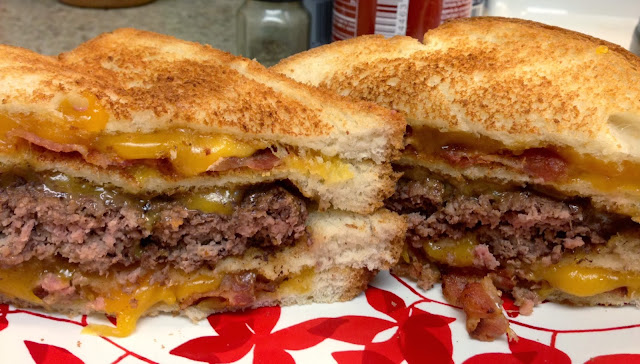 Bacon Grilled Cheese Sandwich Burger