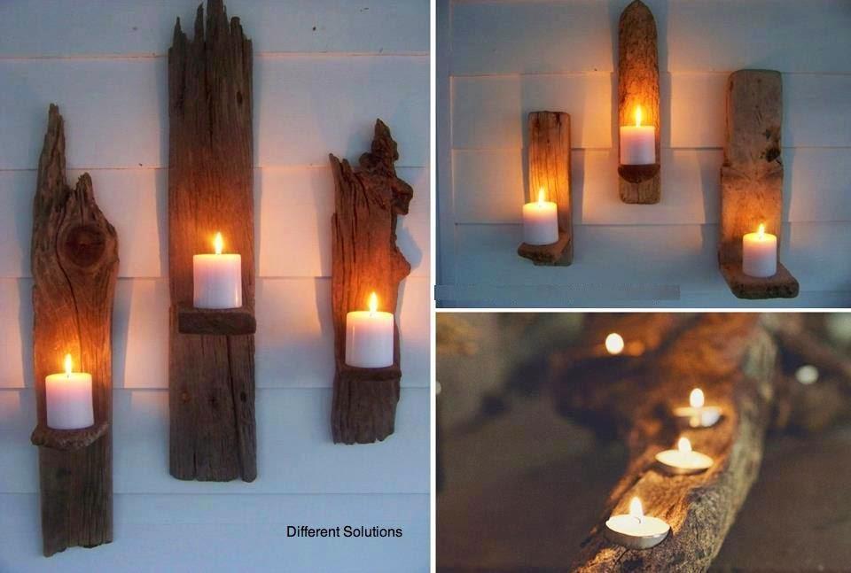 Porta candele riciclando vecchie mensole lifeme for Vecchie tavole legno