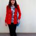 Meu look com casaco vermelho
