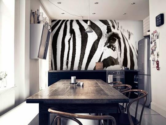 En Zebra-närbild-fototapet från happywall.se | www.var-dags-rum.se