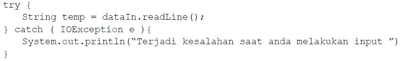 Pengenalan Dasar Pemograman Java