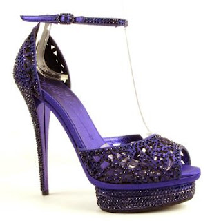 purple crystal shoe, purple high heel. purple crystal sandals, purple bling