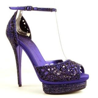 purple crystal shoe, purple high heel. purple crystal sandals, purple bling