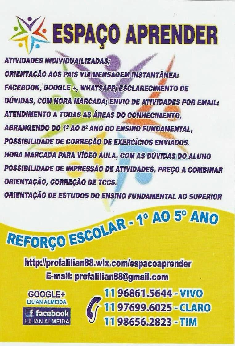 ESPAÇO APRENDER