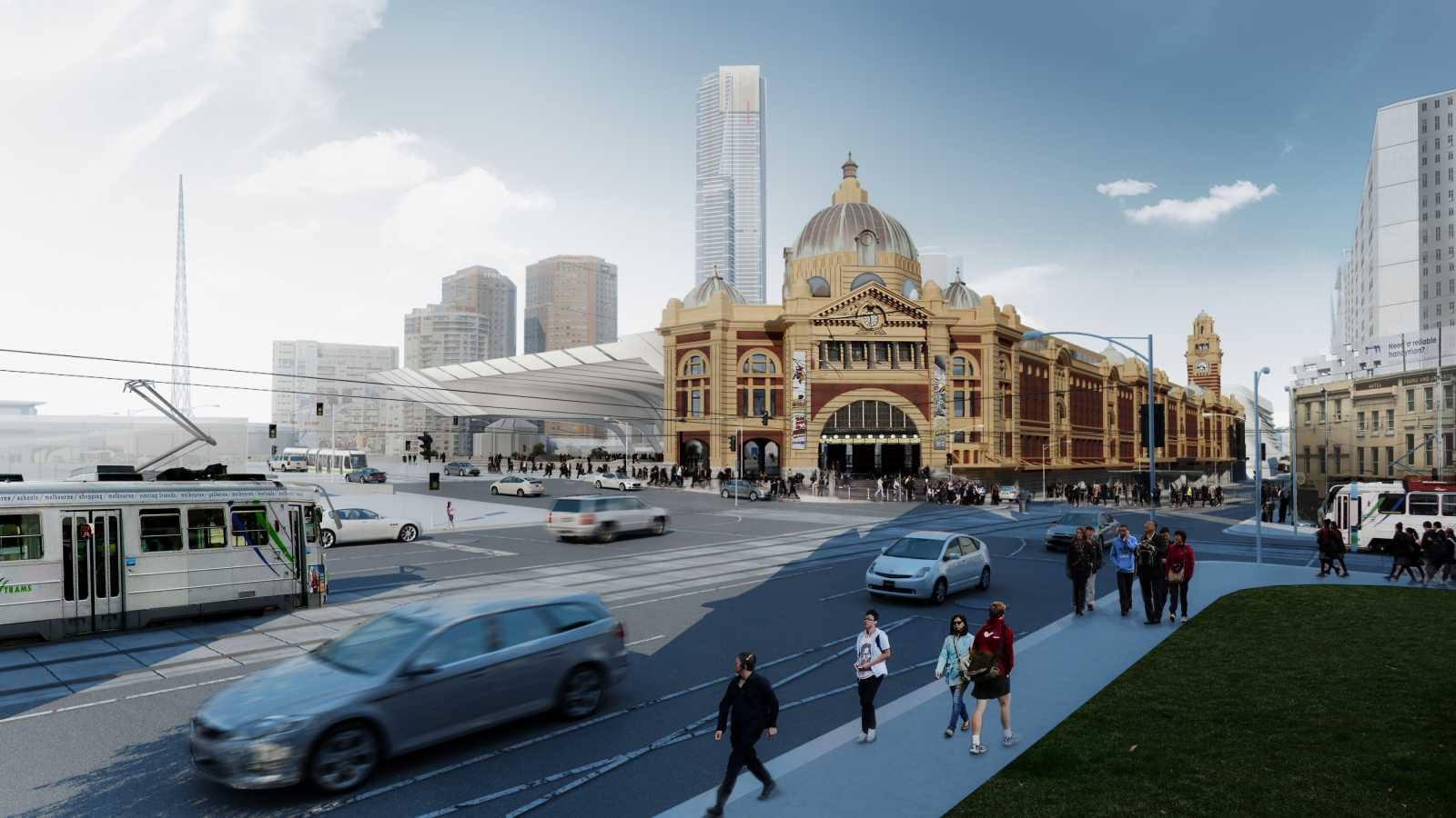 farch flinders street station design competition by zaha. Black Bedroom Furniture Sets. Home Design Ideas