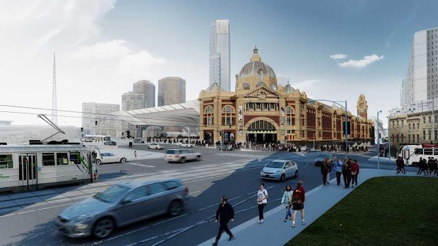 07-Flinders-Street-Station-Design-Competencia por Zaha-Hadid + BVN Architecture-