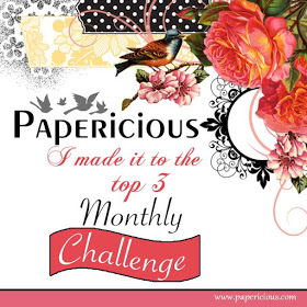 Made it to Top 3 in Papericious Challenge - September