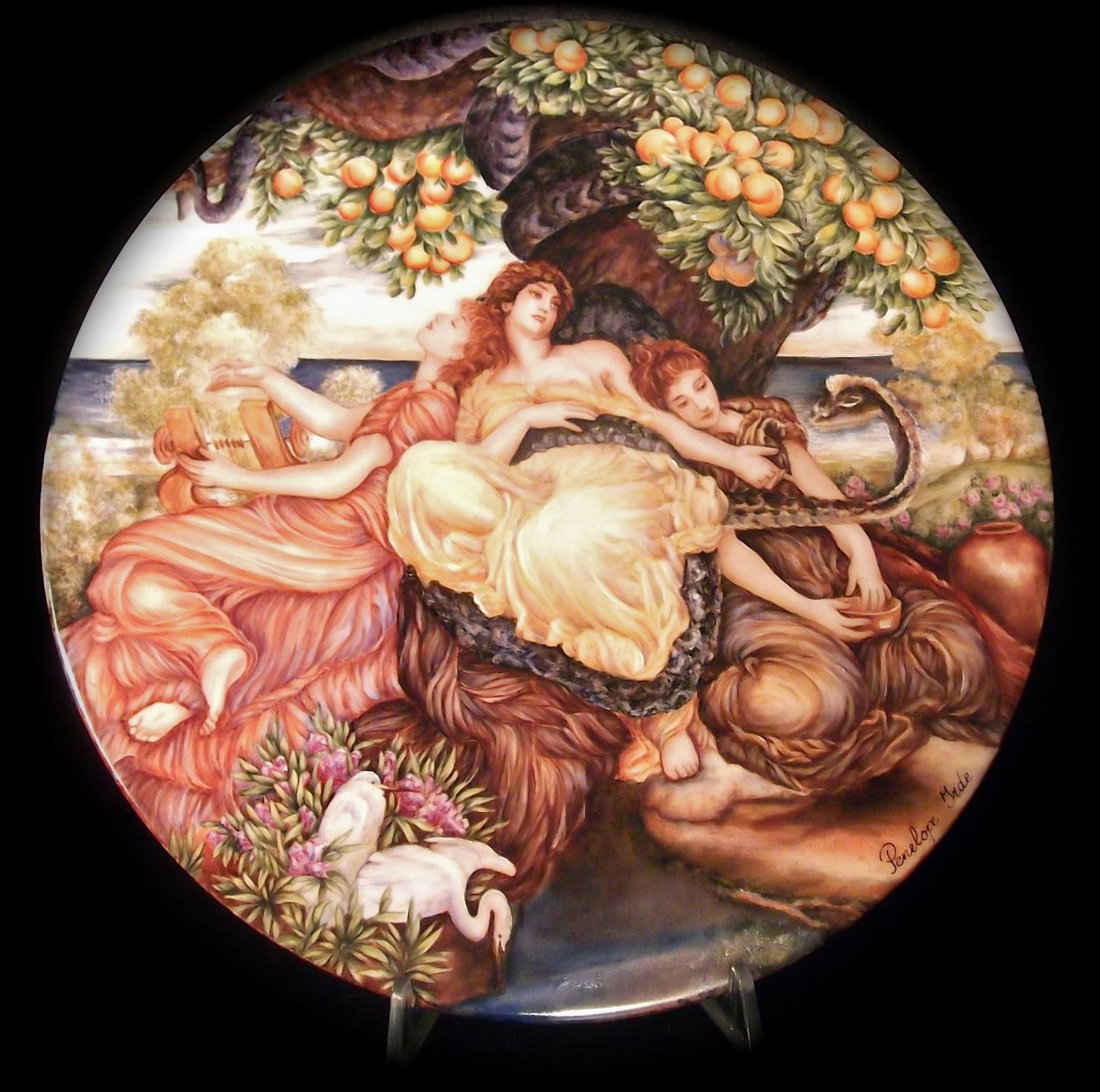 Il giardino delle esperidi pittura su porcellana - Il giardino degli esperidi ...