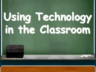 A chalkboard that says Using Technology In the Classroom