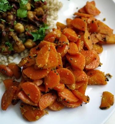 Mustard-sauteed carrots