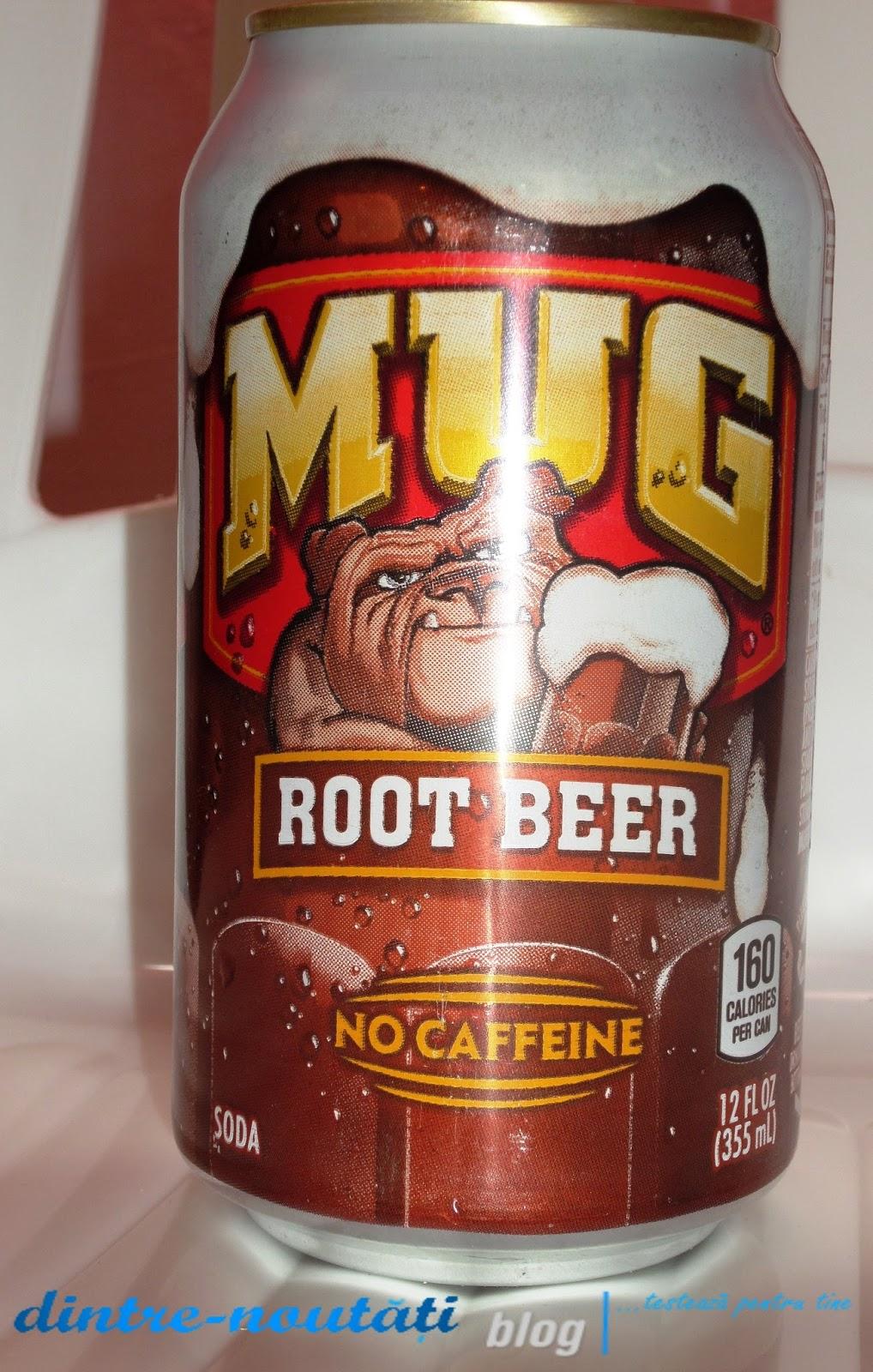 bere din rădăcini, Băutură răcoritoare carbogazoasă fără cafeină din SUA în România