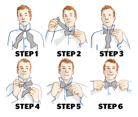 More picture for how to tie a bow tie