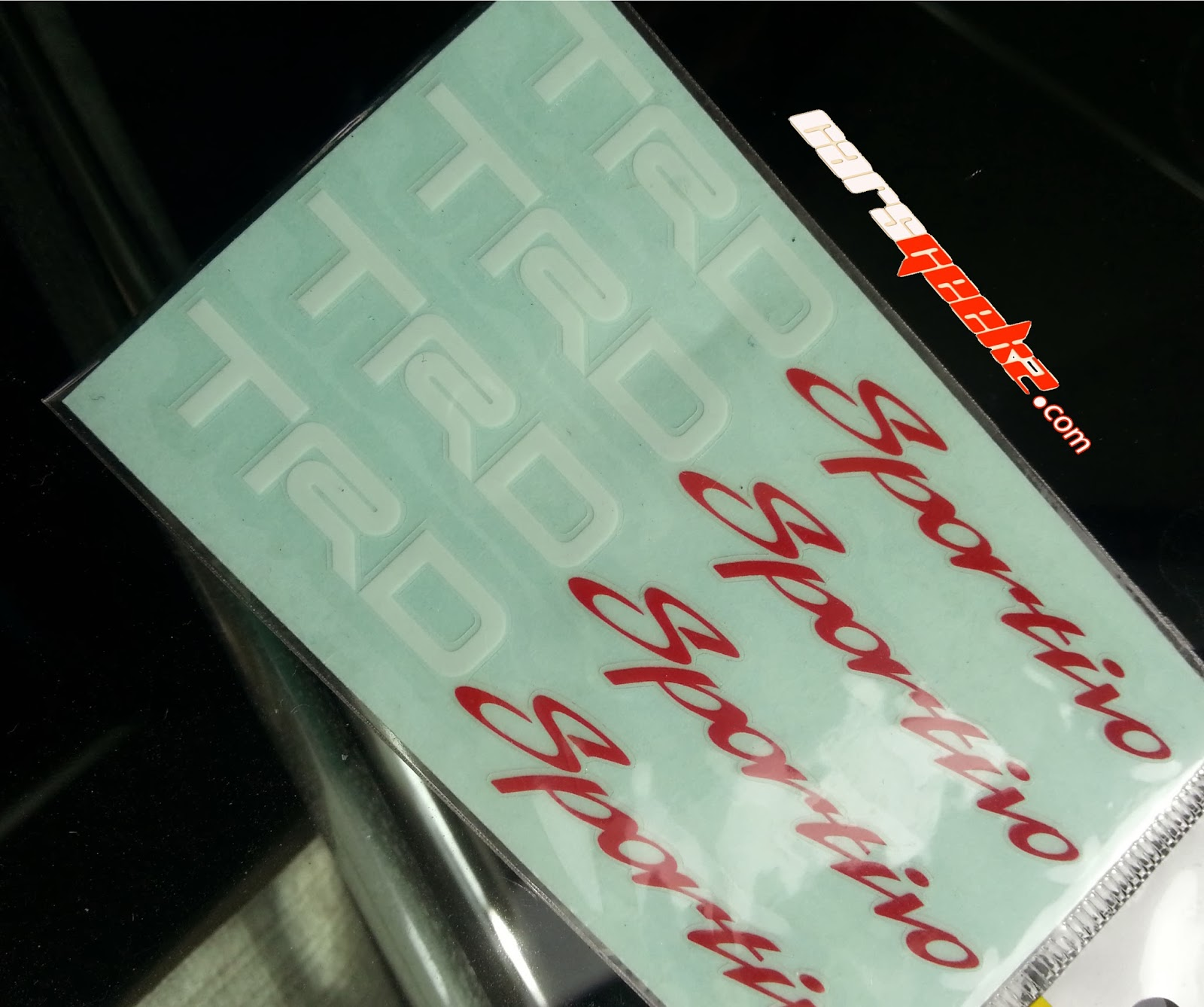 TRD Sportivo red and white sticker