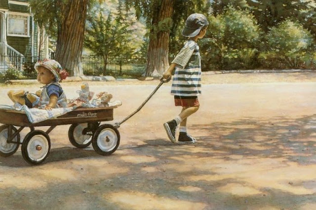 amazing childhood watercolor paintings