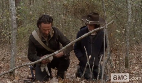RICK (ANDREW LINCOLN) Y CARL (CHANDLER RIGGS)
