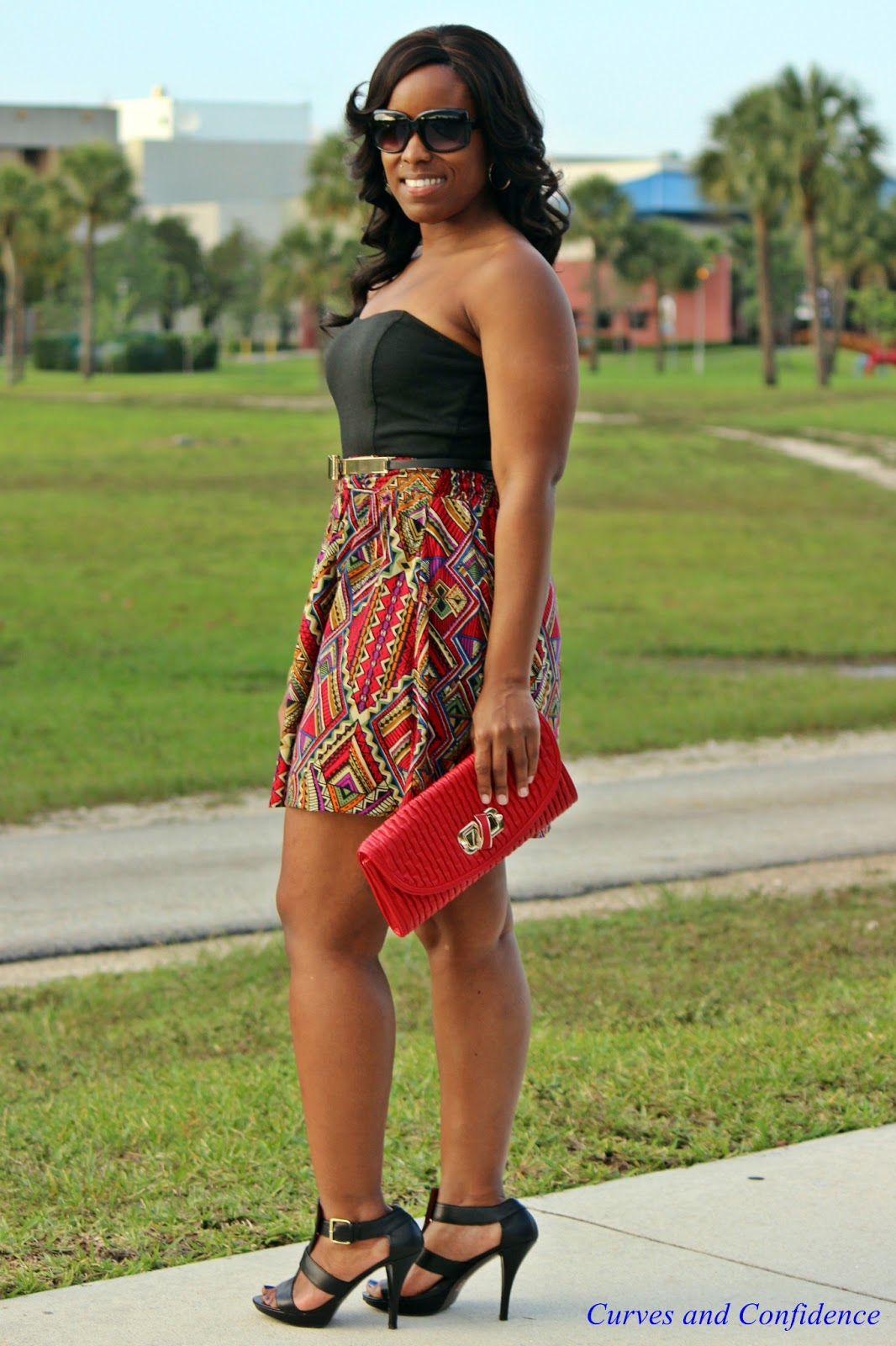 Weekend Wear Aztec Print Dress - Curves and Confidence