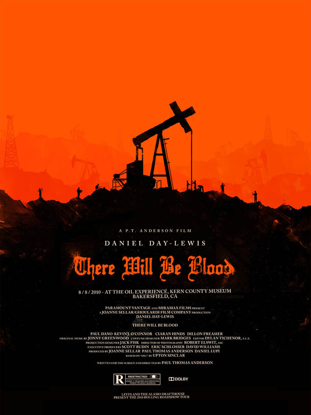Posters de Cinema minimalistas - Olly Moss - There Will Be Blood