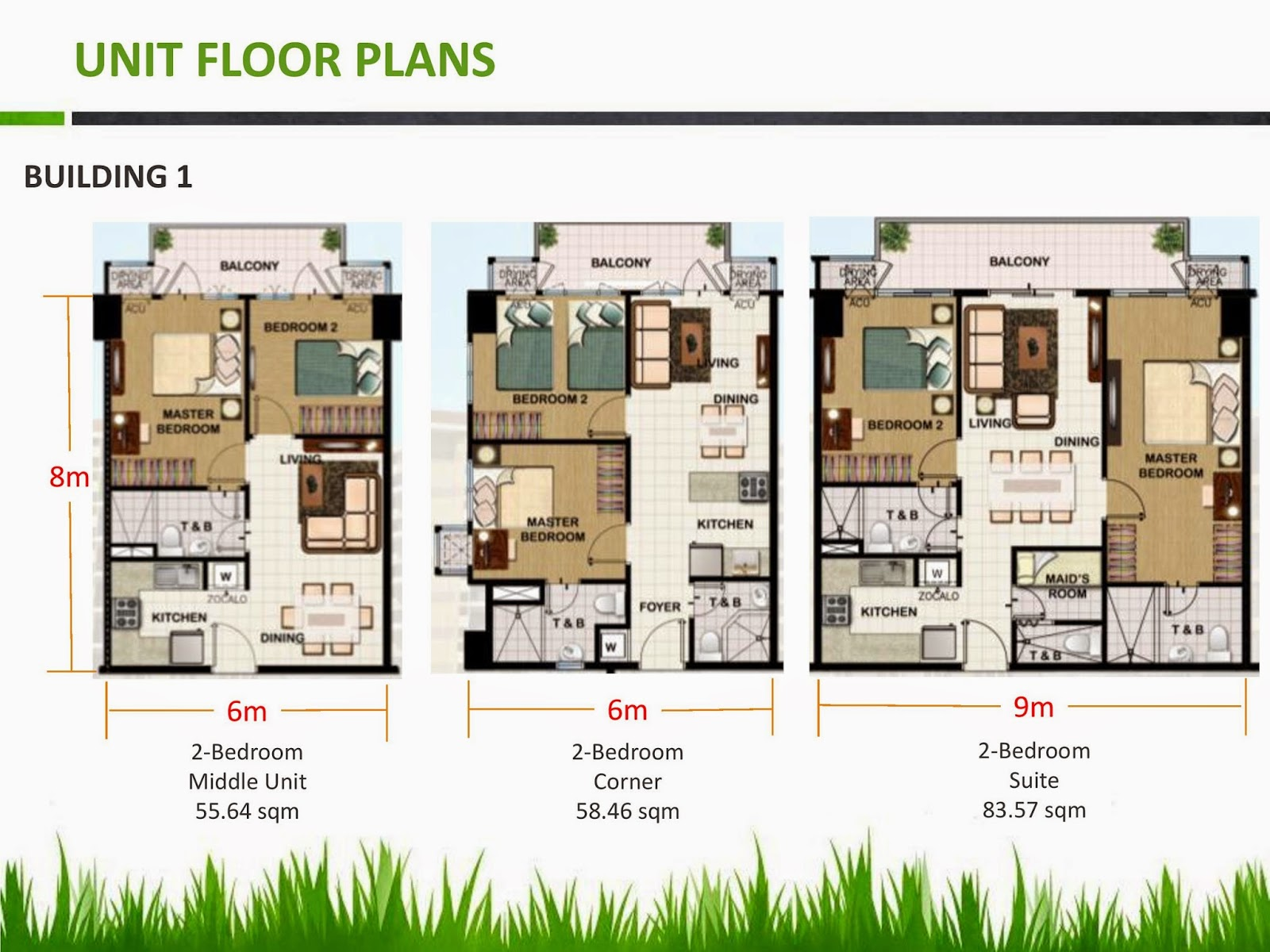 Field residences building 1 for 4 unit condo plans