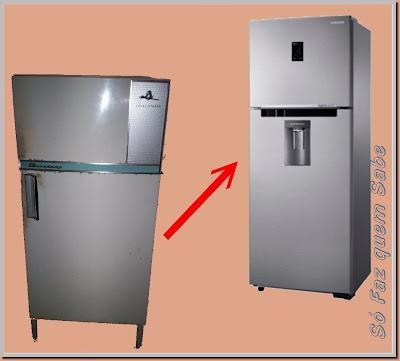Refrigeradores mais novos são muito mais eficientes.