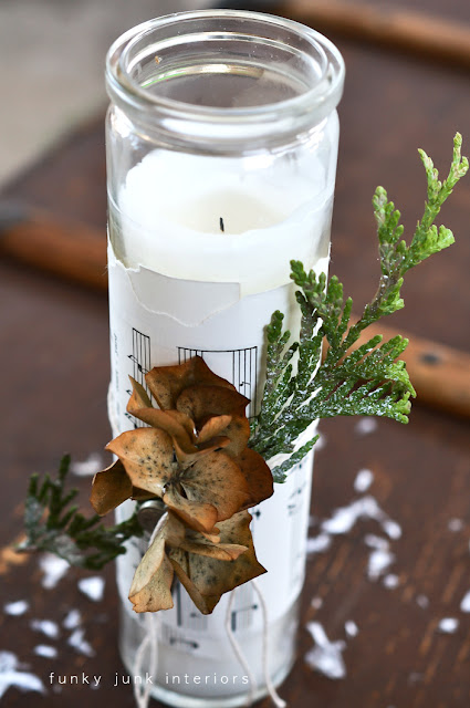 Christmas inspiration... from a mouldy hydrangea. via Funky Junk Interiors
