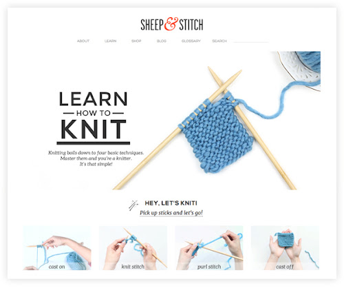 website that teaches you how to knit How About Orange