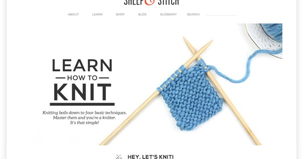 A website that teaches you how to knit