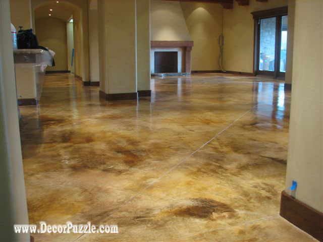 How to paint concrete floors in detailed steps for Stained polished concrete floor
